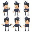 Set of policeman character in different poses — Stock Vector #49464619