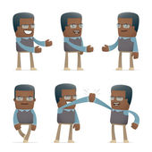 Set of teacher character in different poses — Stock Vector