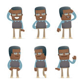 Set of teacher character in different poses — Stockvektor