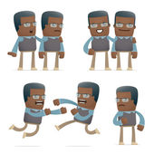 Set of teacher character in different poses — Vector de stock