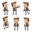 Set of director character in different poses — Stock Vector #50485365
