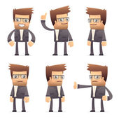 Set of director character in different poses — Stock Vector