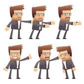 在不同的姿势集导演性格 — 图库矢量图片