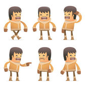 σύνολο εσκιμώος χαρακτήρα σε διαφορετικές πόζες — 图库矢量图片