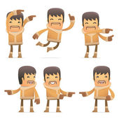 Set of eskimo character in different poses — Stock Vector
