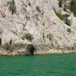A view into the canyon in the Taurus mountains from riding boat — Stock Video #12660557