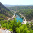 A view into the canyon in the Taurus mountains in Turkey - Stock Photo
