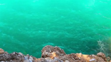Beautiful green waters of river in canyon in Turkey — Stock Video #12660957