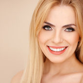Smiling blond with bare shoulders — Stock Photo