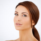 Beauty portrait of a natural woman — Stock Photo