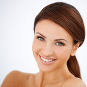 Smiling happy beautiful woman — Stock Photo