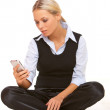Talking cell phone — Stock Photo #1955500
