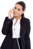 Business woman using phone — Stock Photo