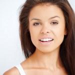 Close up portrait of brunette girl — Stock Photo