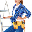 Stok fotoğraf: Confident happy DIY handy woman