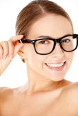 Beautiful woman wearing glasses — Stock Photo