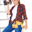 Confident happy DIY handy woman — Zdjęcie stockowe