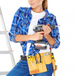 Confident happy DIY handy woman — Stock Photo #31835977