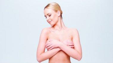 Donna nuda — Video Stock