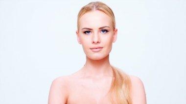 Adorable Woman Posing — Stock Video
