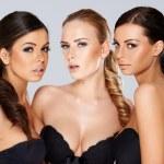 Three sensual beautiful young women — Stock Photo #44702921