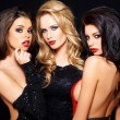 Three beautiful enticing glamorous woman — Stock Photo #44845953