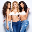 Three gorgeous sexy young women — Zdjęcie stockowe #44846099