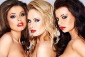 Stunning trio of beautiful women — Stock Photo