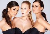 Three sensual beautiful young women — Stock Photo