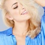 Seductive beautiful blond woman — Stock Photo #47367693