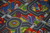 Kolorowe panele podłogowe dla dzieci z ulic — Zdjęcie stockowe