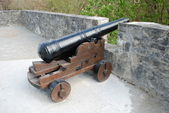 Cannon in the ross castle. Killarney National Park Ireland — Stock Photo