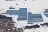 Aerial photo of solar power plant — Stock Photo
