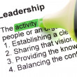 Stock Photo: The word Leadership