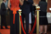 Rope barrier on award ceremony — Stock Photo
