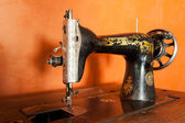 Classic retro style manual sewing machine ready for sewing work. — Stock Photo