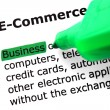 Stock Photo: Word e-commerce