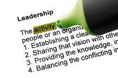 The word Leadership — Stock Photo