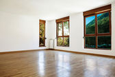Empty interior room and windows — Stockfoto