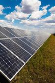Power plant using renewable solar energy — Stock Photo