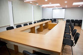 Office meeting room with board — Stock Photo