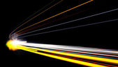 Car light trails in the tunnel. — Stock Photo
