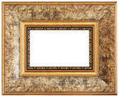 Yellow picture frame — Stock Photo