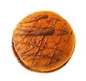 круглые пряники печенье на белом фоне — Стоковое фото