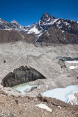 Beautiful mountain landscape with a glacier in a sunny day. Hima — Stock Photo