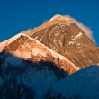Stock Photo: Evening colored view of Everest from KalPatthar. Nepal