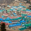 Himalayan village Namche Bazar — Stock Photo