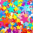 Multicoloured confetti stars — Stock Photo