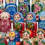 Russian nesting dolls — Stock Photo