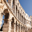 Wall of the ancient amphitheater in Pula. Croatia — Stock Photo